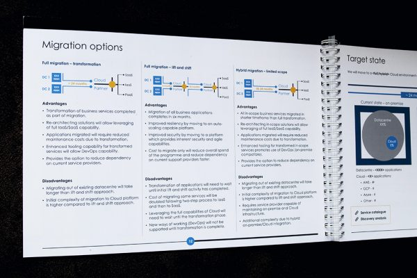An infographic outlining the three main migration options