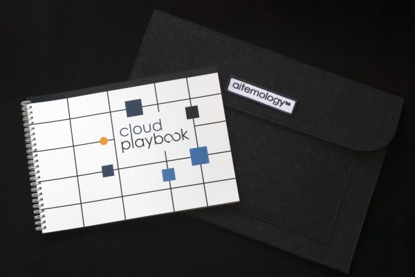 The Cloud plug and playbook printed primer comes in its own recycled felt sleeve
